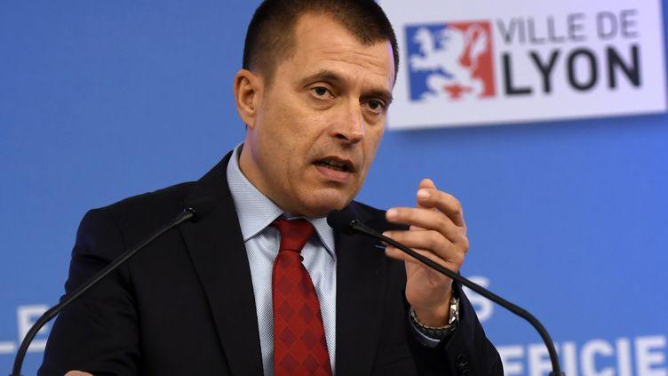 Patrice Ribeiro, secrétaire général du syndicat Synergie-Officiers. (PHILIPPE DESMAZES / AFP)