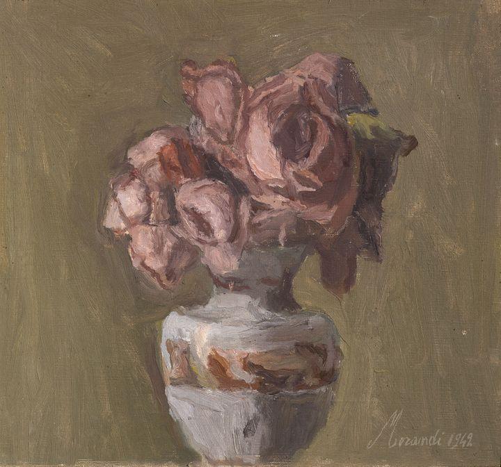 """Giorgio Morandi, """"Fleurs"""", 1942 (Mamiano di Traversetolo (Parme), Fondazione Magnani-Rocca)"""