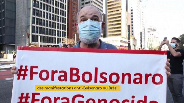 Brésil : une partie du pays manifeste contre Jair Bolsonaro