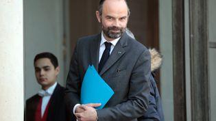 Le Premier ministre, Edouard Philippe, le 21 février 2019 à l'Elysée. (LUDOVIC MARIN / AFP)