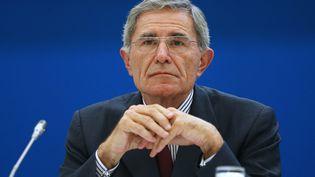 Gérard Mestrallet, président de GDF Suez, à Paris, le 7 mai 2014. (FRANCOIS GUILLOT / AFP)