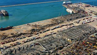 Le port de Beyrouth au Liban détruit par l'explosions de stocks de nitrate d'ammonium, le 4 août 2020. (AFP)