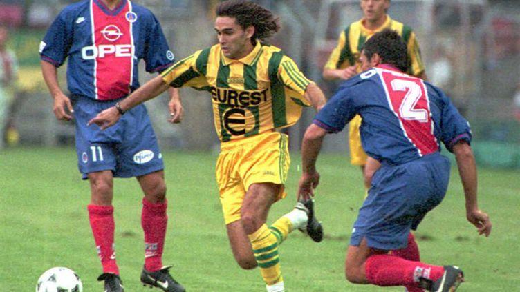 Reynald Pedros sous le maillot du FC Nantes  (contre le PSG) (FRANK PERRY / AFP)