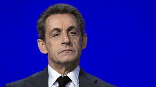Le président du parti Les Républicains, Nicolas Sarkozy, participe à un conseil national du parti, le 13 février 2016, à Paris. (LIONEL BONAVENTURE / AFP)