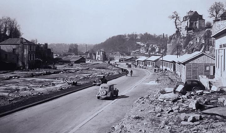 Vue des baraques en bois provisoires construites dès 1945  (Culturebox)
