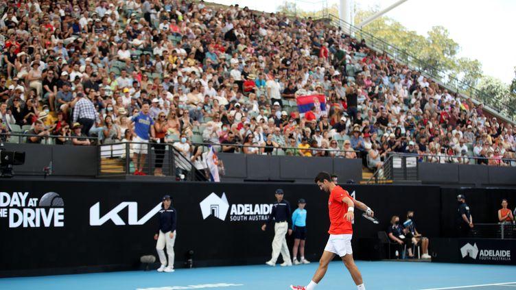 4000 spectateurs viennent applaudir les meilleurs joueurs mondiaux à Adélaïde (KELLY BARNES / AAP)