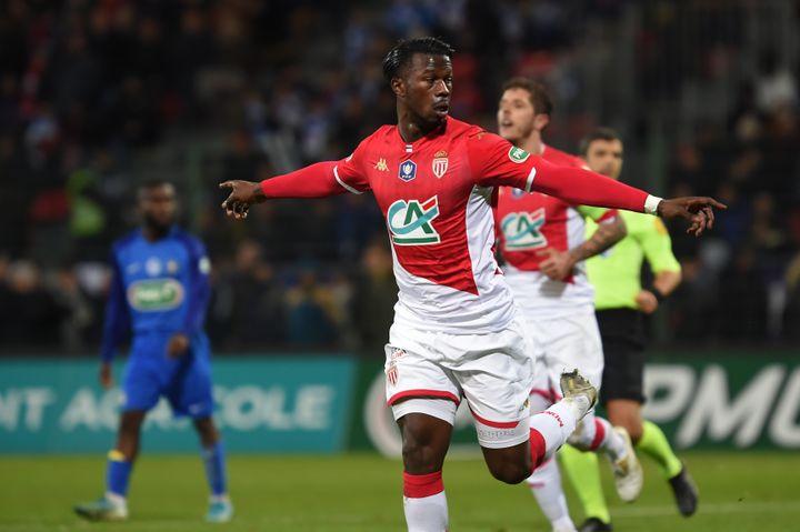 Keita Baldé a inscrit les 4 premiers buts de Monaco en Coupe de France. (GUILLAUME SOUVANT / AFP)