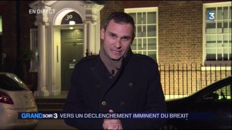Loïc de la Mornais, correspondant de France Télévisions à Londres. (FRANCE 3)
