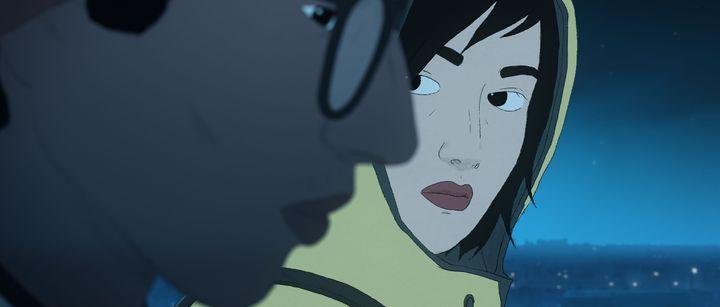 Naoufel, le jeune héros du film, tombe amoureux d'une voix, puis de sa propriétaire. (Xilam Animation - Auvergne-Rhône-Alpes Cinéma)