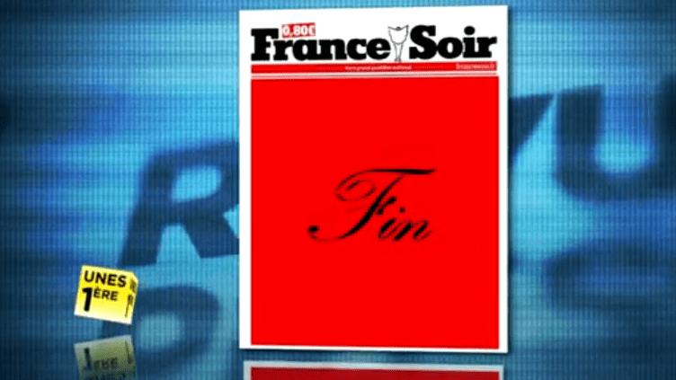 """La une de """"France Soir"""" du mercredi 14 décembre 2011. (FTVi)"""