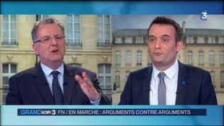 Richard Ferrand et Florian Philippot (France 3)