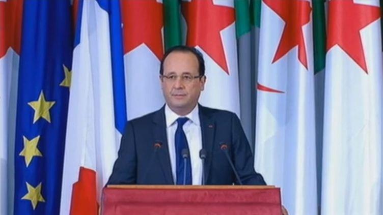 François Hollande, le 20 décembre 2012 à Alger (Alégrie). (FRANCETV INFO)