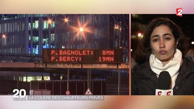 Paris : Les VTC et LOTI bloquent le périphérique vers l'aéroport Roissy-Charles de Gaulle