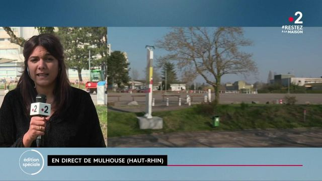 Coronavirus : début de l'installation de l'hôpital militaire de campagne à Mulhouse
