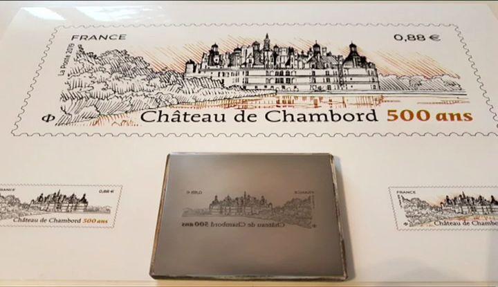 Poinçon original du timbre commémoratif (D. Le Pape / France3)