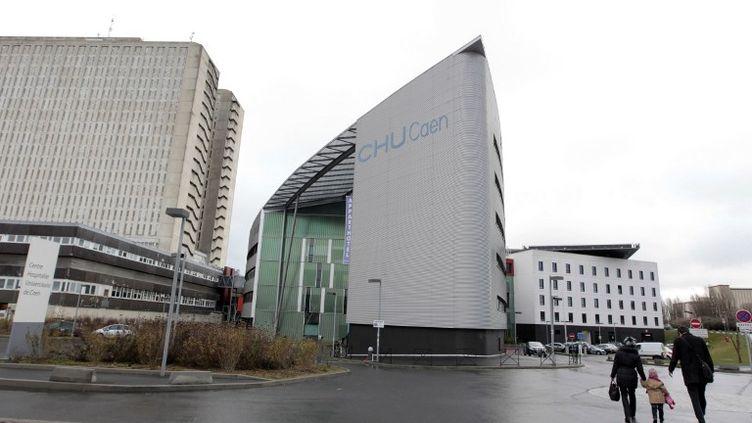 Le CHU de Caen (Calvados), le 21 janvier 2012. (KENZO TRIBOUILLARD / AFP)