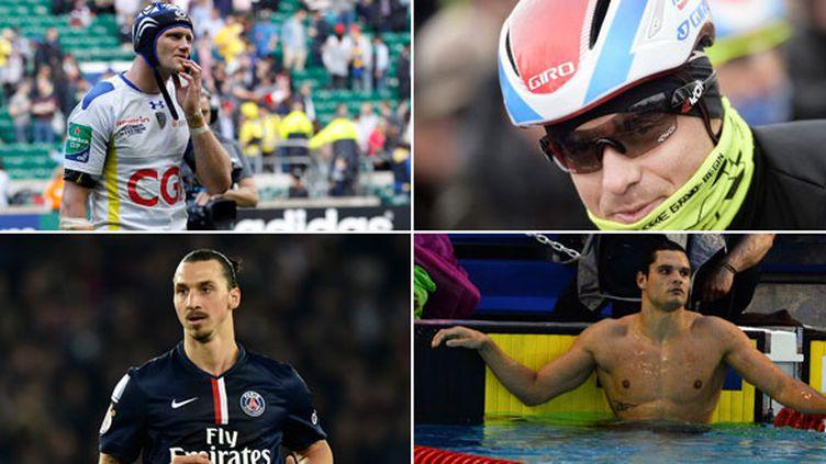 Zlatan Ibrahimovic (PSG), Julien Bonnaire (Clermont), Alexander Kristoff (Katusha) et Florent Manaudou seront sur le pont ce week-end