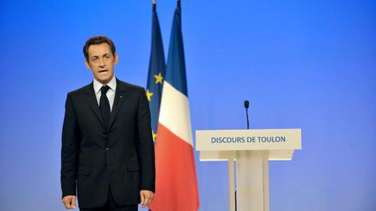 Nicolas Sarkozy à Toulon en 2008 (ERIC FEFERBERG / AFP)