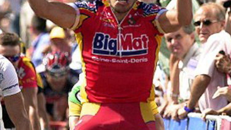 Le maillot de l'équipe Big Mat, en 2002