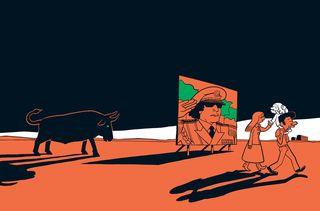 """Le dessin de couverture du premier tome de """"L'Arabe du futur"""" sous-titré """"Une jeunesse au Moyen-Orient (1978-1984)"""". (RIAD SATTOUF / ALLARY EDITIONS)"""