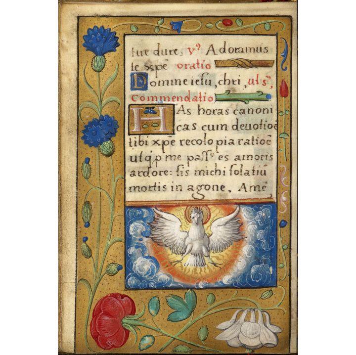 Une page du livre d'heures de François Ier  (S.J. Philips)