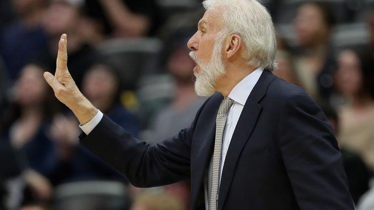 Gregg Popovich, l'entraîneur des San Antonio Spurs (MATTHEW STOCKMAN / GETTY IMAGES NORTH AMERICA)