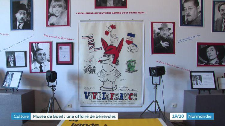Une exposition consacrée à Michel Audiard au musée du cinéma et de la photographie de Bueil, Eure (FRANCE 3 NORMANDIE)