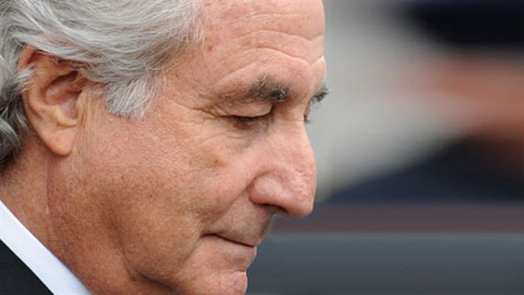 Bernard Madoff lors de son procès, le 10 mars 2009, à New York. (AFP PHOTO/Stan HONDA)