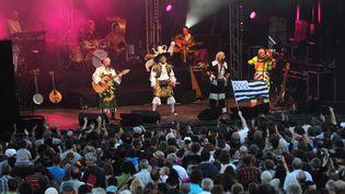 Tri Yann sur scène en 2014 (REMY PERRIN / MAXPPP)