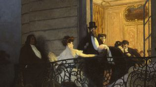 """René François Xavier Prinet, """"Le Balcon"""", 1905-1906, Huile sur toile, 161,2 x 191,7 cm  (Musée des Beaux-arts de Caen. Martine Seyve photographe - ADAGP, Paris 2014)"""