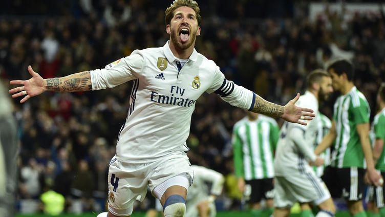 Le défenseur espagnol Sergio Ramos (GERARD JULIEN / AFP)