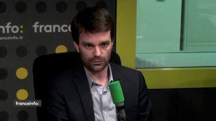 """Bruno Julliard, premier adjoint à la mairie de Paris, était l'invité de """"L'Interview J-1"""" jeudi 15 février 2018 sur franceinfo. (FRANCEINFO)"""