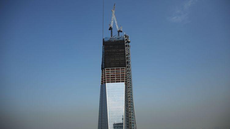 Le One World Trade Center est désormais le plus haut gratte-cielde New York (Etats-Unis), culminant à 541 mètres. (SPENCER PLATT / GETTY IMAGES NORTH AMERICA)