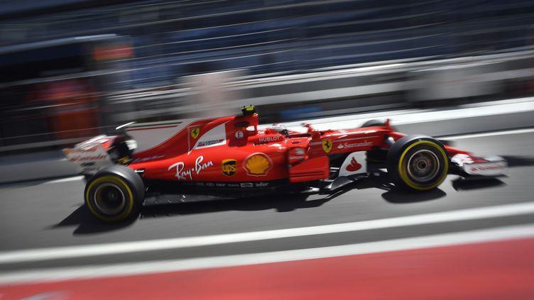 Kimi Räikkönen a signé le meilleur temps des essais libres 1 du GP de Russie à Sotchi. (ALEXANDER NEMENOV / AFP)
