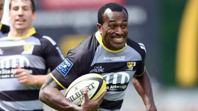 Le Fidjien Sereli Bobo sous les couleurs de La Rochelle (XAVIER LEOTY / AFP)