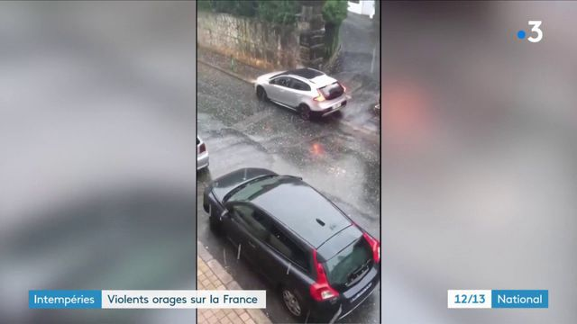 Intempéries : violents orages sur la France