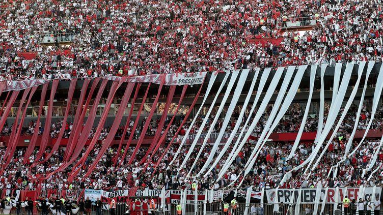 Le Monumental ne verra pas le Superclasico ce dimanche (ALEJANDRO PAGNI / AFP)