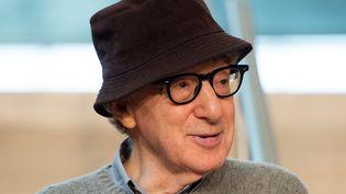 Woody Allen lors de l'annonce de son prochain film à Saint-Sébastien le 9 juillet 2019. (ANDER GILLENEA / AFP)
