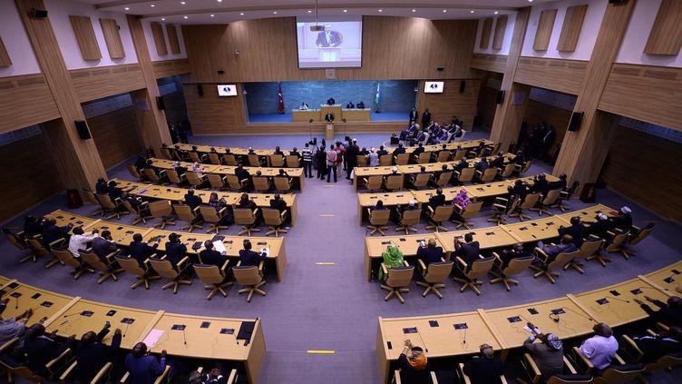 Le Parlement de Djibouti recevait en 2015 le président turc, Recep Tayyip Erdogan. (VOLKAN FURUNCU / ANADOLU AGENCY)