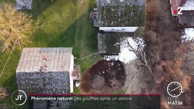 Croatie : des cratères formés par le séisme de décembre 2020