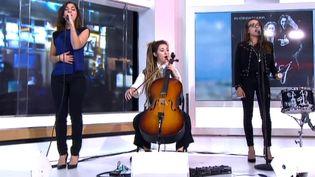 """L.E.J. chante """"Get Lucky"""" sur le plateau de France2  (France2/culturebox)"""