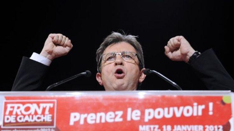 Jean Luc Mélenchon à Metz (19 janvier 2012) (JEAN-CHRISTOPHE VERHAEGEN / AFP)
