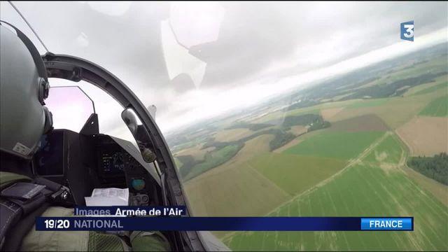 La police de l'air surveille le ciel français
