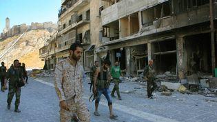 Les forces de l'armée syrienne ont repris le contrôle dudistrict de Farafira, un quartier de l'est d'Alep. (GEORGES OURFALIAN / AFP)