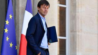 Nicolas Hulot, à la sortie du Conseil des ministres le 25 juillet 2018 au palais de l'Elysée. (MAXPPP)