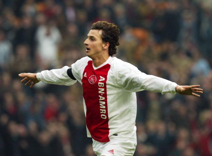 Zlatan Ibrahimovic, attaquant de l'Ajax Amsterdam de 2001 à 2004.