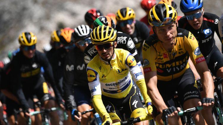 Julian Alaphilippe conservera-t-il son maillot jaune ? (MARCO BERTORELLO / AFP)