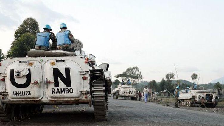 Un char de la Monusco en patrouille dans le Nord-Kivu. (Photo AFP/Junior D. Kannah)