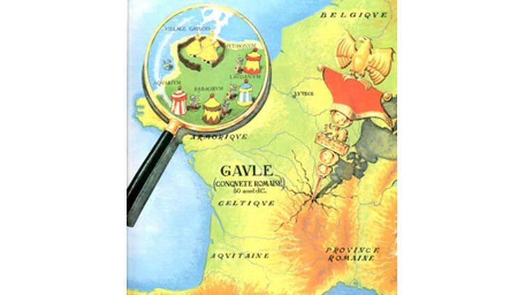 """La marque """"Origine France Garantie"""" a été créée et présentée le 19 mai 2011. (Extrait de la bande dessinée franco-belge, Astérix, créée le 29 octobre 1959 par René Goscinny au scénario et Albert Uderzo.)"""