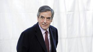La parole de François Fillon, ici en Belgique le 15 décembre, se fait rare (THIERRY CHARLIER / AFP)